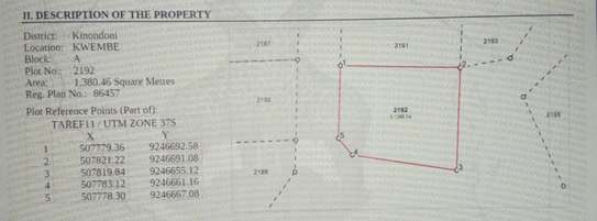 Surveyed Land in Kwembe- Kibamba for sale image 1