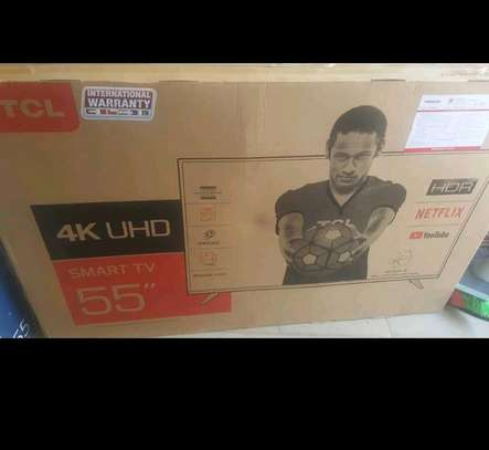 Tcl 55 inch UHD 4K ANDROID TV image 1