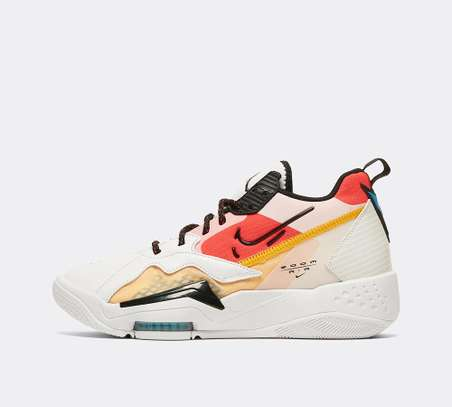 Jordan Women's Zoom 92 Trainer | White / Black / Siren Red / University Gold image 6