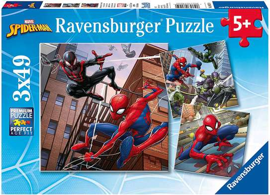 Spider Man Jigsaw Puzzle 3 in 1
