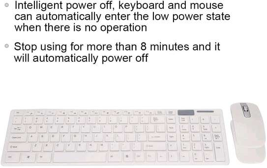 K-06 2.4GHz Ultra-thin Wireless Keyboard & Mouse Set - White image 4