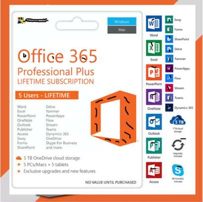 Office 365 - 2021 - 2019 - Lifetime - Win - Mac - Android - Chromebook - Onedrive 5TB - Instant EMAIL DELIVERY image 1