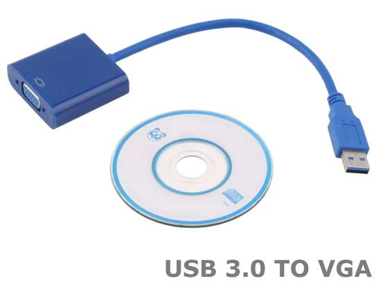 USB 3.0 TO VGA GRAPHIC CONVERTER CARD DISPLAY CABLE ADAPTER 1080P image 3