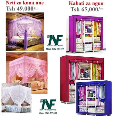 Mosquito nets and wardrobe image 1
