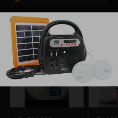 Lontor Solar Rechargeable Lighting Kit (With Radio,2 Bulbs,Mp3 speaker,USB output) image 2