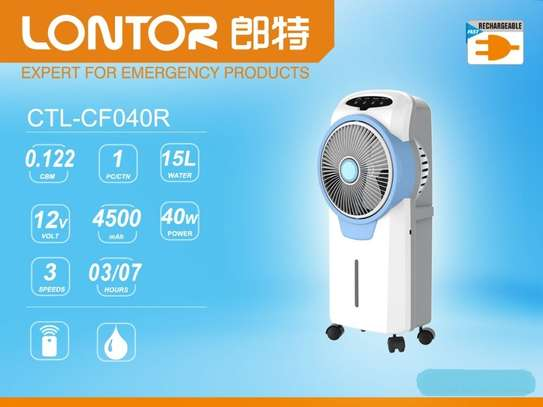 Rechargeable Electric Air Cooler Fan/AC image 2