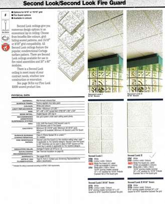 Ceiling Tiles + Metal Grid Frames - Fire Guard and Acoustical Inlay image 4