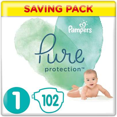 Pampers Size 1 Pure Protection Nappies, 102 Count, MONTHLY SAVINGS PACK image 6