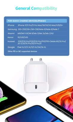 Original 18W PD QC4.0 3.0 Fast Charger for Apple iPhone 11 Pro 8 Plus XR XS Max iPad mini USB Type-C Quick Charge Travel Adapter image 5