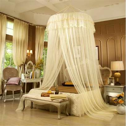 Bed Canopy Curtain Hanging Dome Mosquito Nets Open Door Princess Landing Insect Bug Protection Bed Canopy image 4