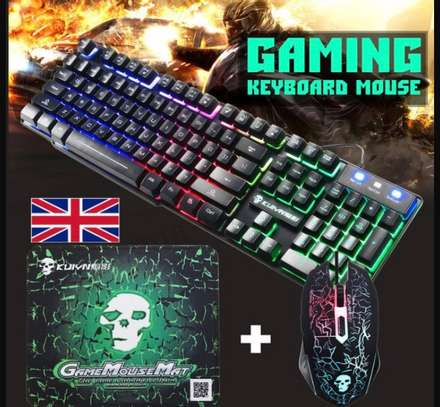 Gaming keyboard and mouse image 1