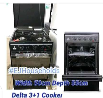 3G + 1E Plate Cookers with Gas Oven. image 2