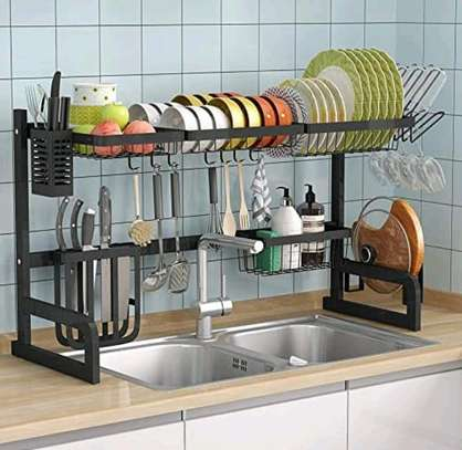 Large Over the Sink Dish Drying Rack. image 2