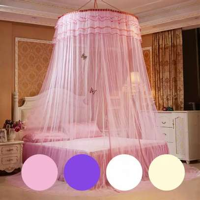 Bed Canopy Curtain Hanging Dome Mosquito Nets Open Door Princess Landing Insect Bug Protection Bed Canopy image 2