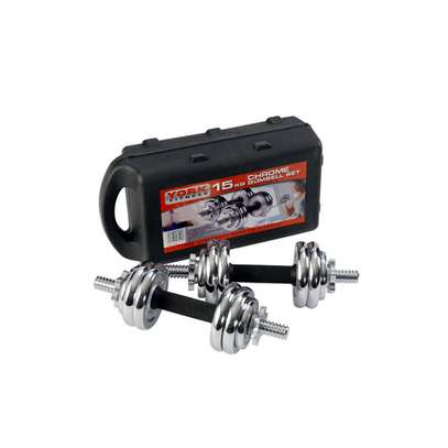York 15KG Chrome Dumbbell Set @7.5