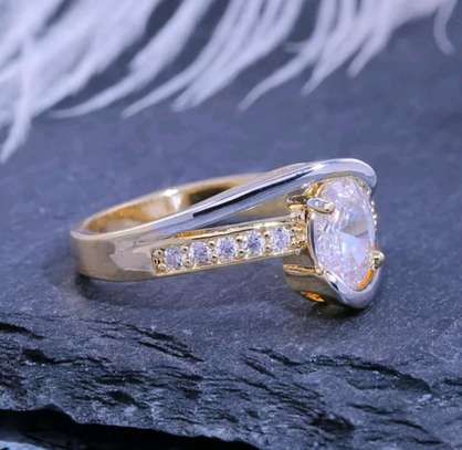Gold and Silver Engagement Ring image 5