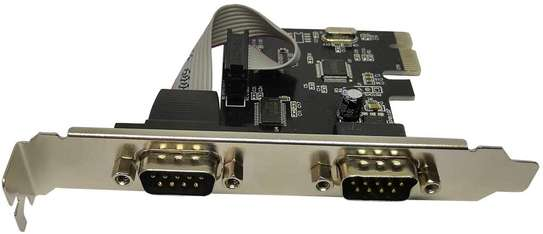 shinedisk 2 Port PCIe Serial Expansion Card image 1