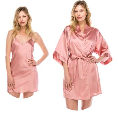 2 pcs satin night dress
