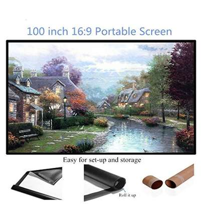 Foldable Projector Screen - 100 Inches image 3