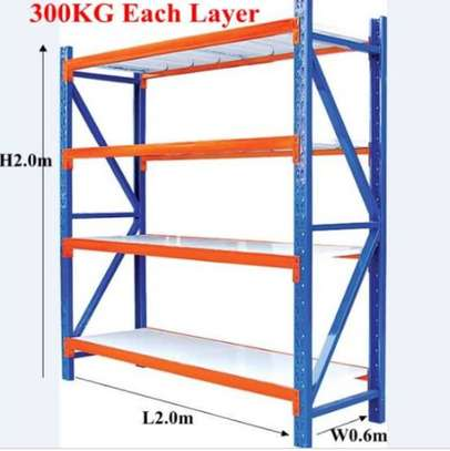 Metal shelve rack and pallets