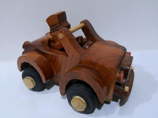 Wooden toy car image 1
