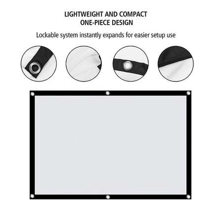 Foldable Projector Screen - 100 Inches image 8