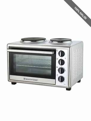 WESTPOINT Mini Oven + 2 Hotplate + Grill + Turnspit – WOY-45215.4.W image 1