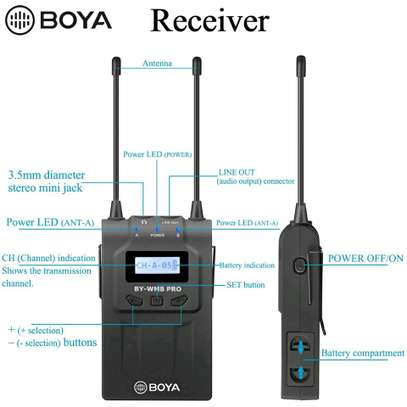 BOYA BY-WHM8 Pro Lavalier and Handheld Microphone UHF Wireless Unidirectional Dynamic Mic image 6