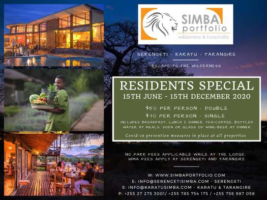 Special Resident Rates at Serengeti Simba Lodge