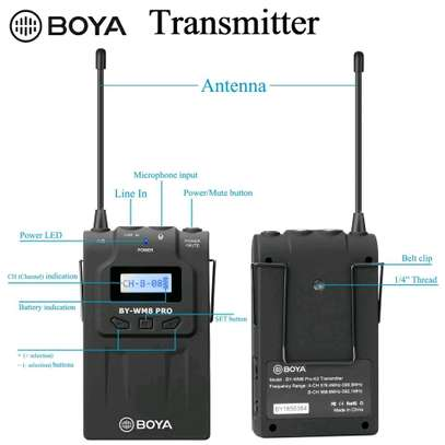 BOYA BY-WHM8 Pro Lavalier and Handheld Microphone UHF Wireless Unidirectional Dynamic Mic image 7