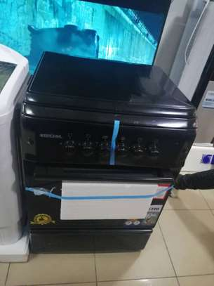 BRUHM COOKER 4 GAS BURNERS 60X60 BLACK WITH OPTIONAL  OVEN. image 1