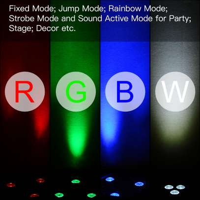 Colorful Disco Lights with remote & music control 4pcs image 8