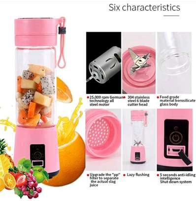 6 blades Rechargeable portable blender image 2