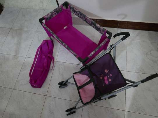 Toy stroller and bed