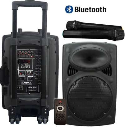 """Portable PA Speaker System, Bluetooth, MP3, 300w 12"""" Woofer & 2 Wireless Microphones image 2"""