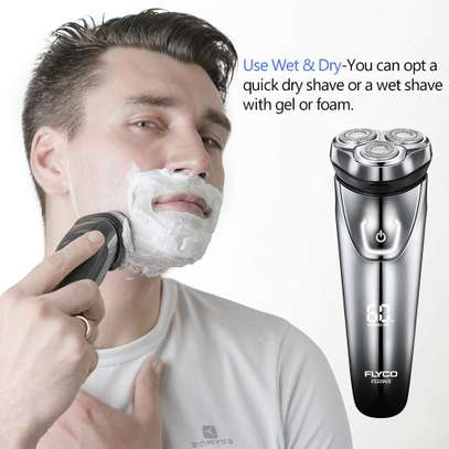 FLYCO Electric Shavers Men FS339EU, Wet & Dry Electric Razor Rotary Shaver for Men image 6