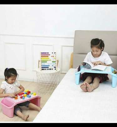 Small Desk on Plastic Bed Writing Desk Children Multifunctional Toy Eating Table image 2