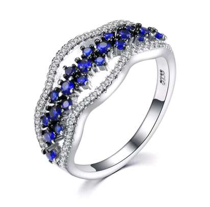 Silver Tanzanite Wedding Ring