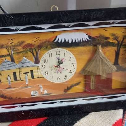 Painted Culture Clock