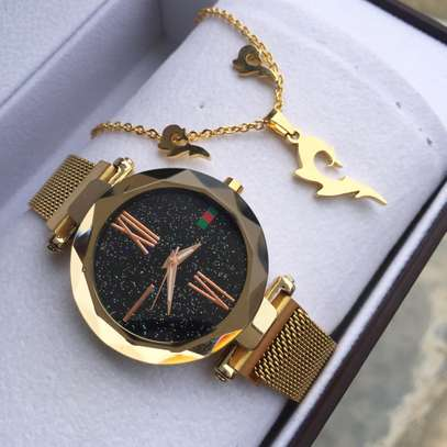Pack of Watch and Necklace