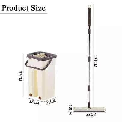 Automatic Squeeze  Scratch Floor Mop with 2PCS rag Cloth for Room,window,ceiling, wall etc. image 6