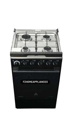 Delta Gas Cookers 50x55cm Gas Oven & Grill 4 Gas Burner Black S/Steel DGC40I image 2
