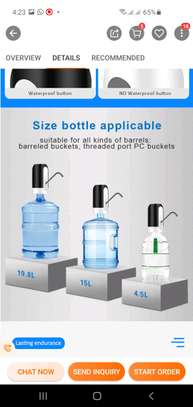 Automatic water Dispenser with USB. Rechargeable. image 4