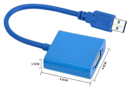 USB 3.0 TO VGA GRAPHIC CONVERTER CARD DISPLAY CABLE ADAPTER 1080P image 2