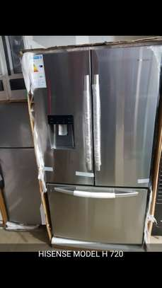 Hisense refrigerator side by side with French door image 1