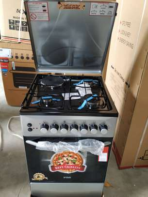 Von Hotpoint Cooker 50X50 F5c31e2.S 3Gas+1Electric+ Electric Oven - Silver