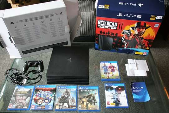 PLAYSTAION 4 BUNDLE PS4 PRO 1 TERRABITE GUN VR