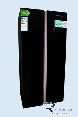 Westpoint Black Doube Door Side By Side Glass Finish Refrigerator 455L – WSNS-5019.ERGB image 1