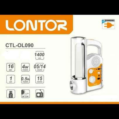 Lontor Rechargeable Lantern With FM Radio And Usb Output image 1