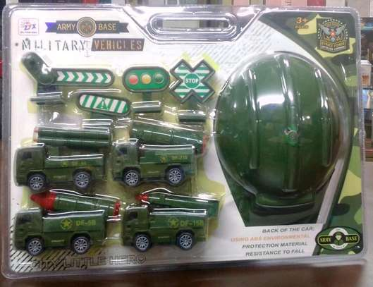 Military Toy car set image 1